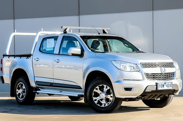 Used Holden Colorado RG MY15 LS Crew Cab, 2014 Holden Colorado RG MY15 LS Crew Cab Silver 6 Speed Sports Automatic Utility