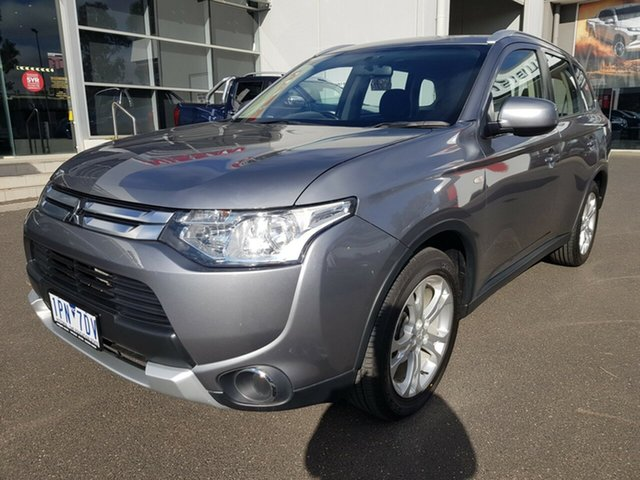 Used Mitsubishi Outlander ZJ MY14.5 ES, 2014 Mitsubishi Outlander ZJ MY14.5 ES Grey Continuous Variable Wagon