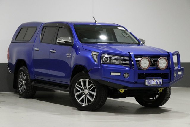 Used Toyota Hilux GUN126R SR5 (4x4), 2015 Toyota Hilux GUN126R SR5 (4x4) Blue 6 Speed Automatic Dual Cab Utility