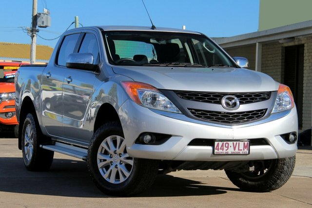 Used Mazda BT-50 UP0YF1 XTR 4x2 Hi-Rider, 2014 Mazda BT-50 UP0YF1 XTR 4x2 Hi-Rider Highlight Silver 6 Speed Sports Automatic Utility