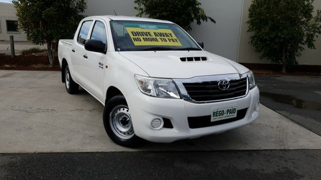 Used Toyota Hilux KUN16R MY14 SR Double Cab 4x2, 2015 Toyota Hilux KUN16R MY14 SR Double Cab 4x2 White 5 Speed Manual Utility