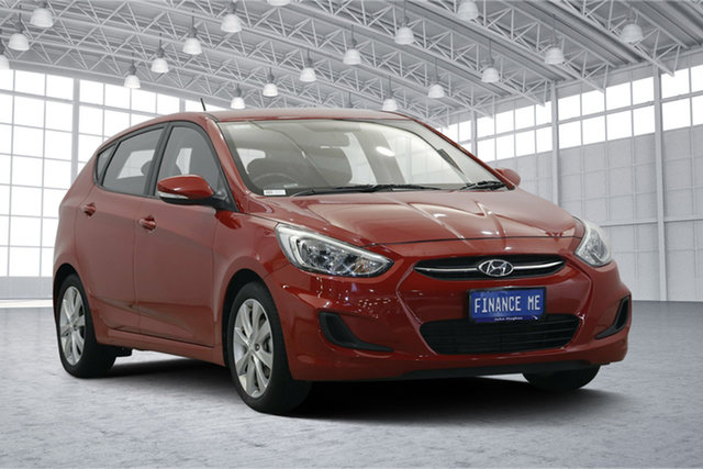 Used Hyundai Accent RB5 MY17 Sport, 2017 Hyundai Accent RB5 MY17 Sport Red 6 Speed Sports Automatic Hatchback