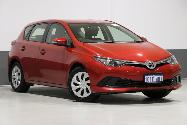 Used Toyota Corolla ZRE182R MY15 Ascent, 2017 Toyota Corolla ZRE182R MY15 Ascent Red 7 Speed CVT Auto Sequential Hatchback