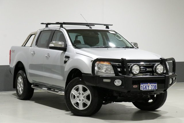 Used Ford Ranger PX XLT 3.2 (4x4), 2015 Ford Ranger PX XLT 3.2 (4x4) Silver 6 Speed Manual Dual Cab Utility