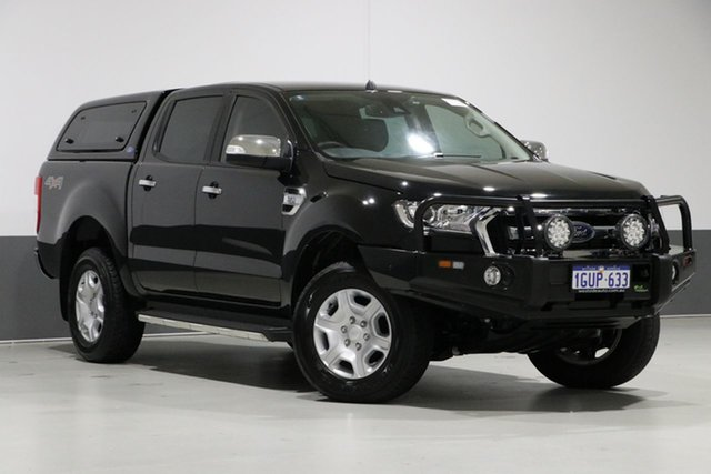 Used Ford Ranger PX MkII MY18 XLT 3.2 (4x4), 2018 Ford Ranger PX MkII MY18 XLT 3.2 (4x4) Black 6 Speed Automatic Dual Cab Utility