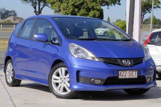 Used Honda Jazz GE MY12 Vibe-S, 2012 Honda Jazz GE MY12 Vibe-S Blue 5 Speed Automatic Hatchback