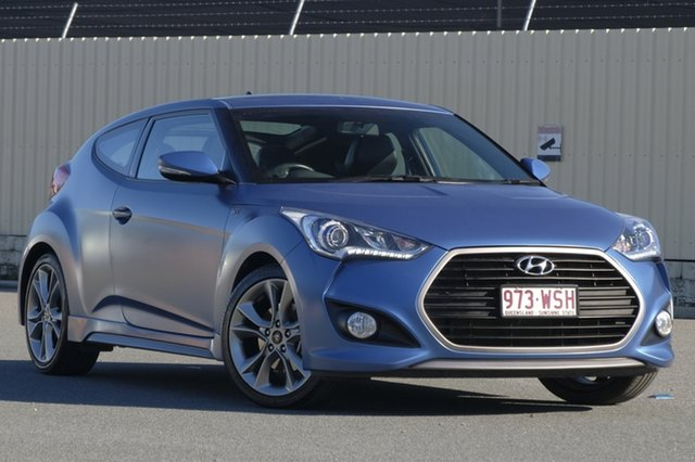 Used Hyundai Veloster FS4 Series II SR Coupe Turbo +, 2016 Hyundai Veloster FS4 Series II SR Coupe Turbo + Matte Blue 6 Speed Manual Hatchback