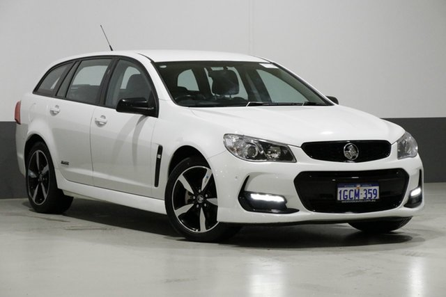 Used Holden Commodore Vfii MY16 SV6 Black Edition, 2016 Holden Commodore Vfii MY16 SV6 Black Edition White 6 Speed Automatic Sportswagon