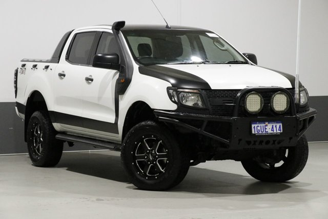 Used Ford Ranger PX XL 3.2 (4x4), 2012 Ford Ranger PX XL 3.2 (4x4) White 6 Speed Manual Dual Cab Utility