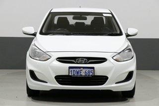 2012 Hyundai Accent RB Active White 4 Speed Automatic Sedan.