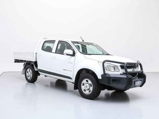 Used Holden Colorado RG LX (4x4), 2012 Holden Colorado RG LX (4x4) White 6 Speed Automatic Crew Cab Chassis