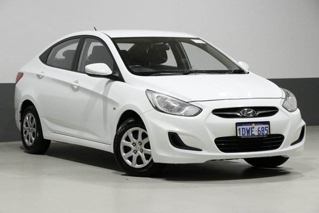 Used Hyundai Accent RB Active, 2012 Hyundai Accent RB Active White 4 Speed Automatic Sedan