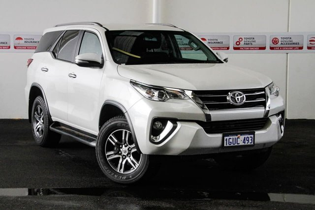 Used Toyota Fortuner GUN156R GXL, 2015 Toyota Fortuner GUN156R GXL Crystal Pearl 6 Speed Automatic Wagon
