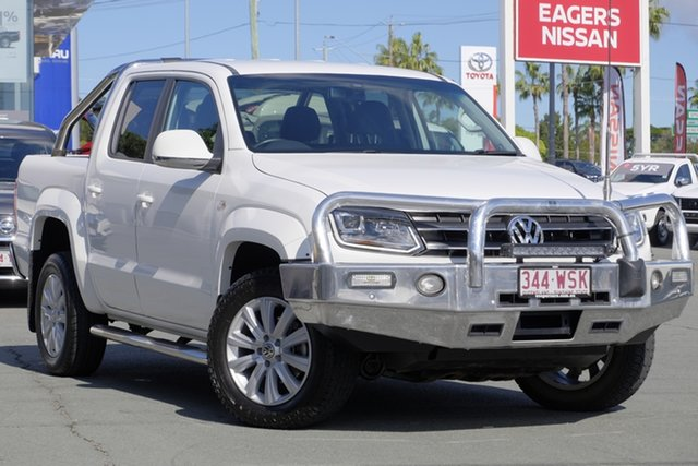 Used Volkswagen Amarok 2H MY16 TDI420 4Motion Perm Highline, 2016 Volkswagen Amarok 2H MY16 TDI420 4Motion Perm Highline White 8 Speed Automatic Utility