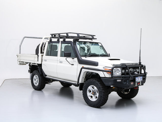 Used Toyota Landcruiser VDJ79R MY12 Update GXL (4x4), 2015 Toyota Landcruiser VDJ79R MY12 Update GXL (4x4) White 5 Speed Manual Double Cab Chassis