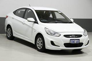 2012 Hyundai Accent RB Active White 4 Speed Automatic Sedan