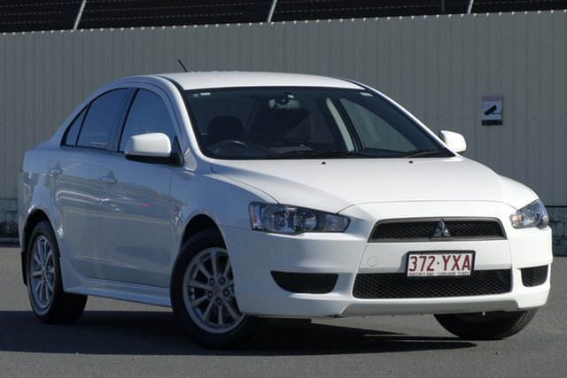 Used Mitsubishi Lancer CJ MY10 Activ, 2010 Mitsubishi Lancer CJ MY10 Activ White 5 Speed Manual Sedan