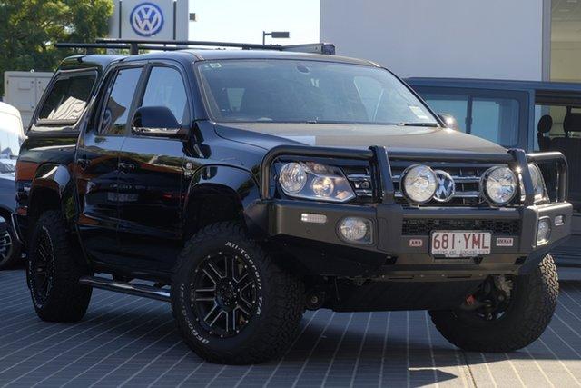 Demo Volkswagen Amarok 2H MY18 TDI550 4MOTION Perm Sportline, 2018 Volkswagen Amarok 2H MY18 TDI550 4MOTION Perm Sportline Deep Black Pearl Effect 8 Speed