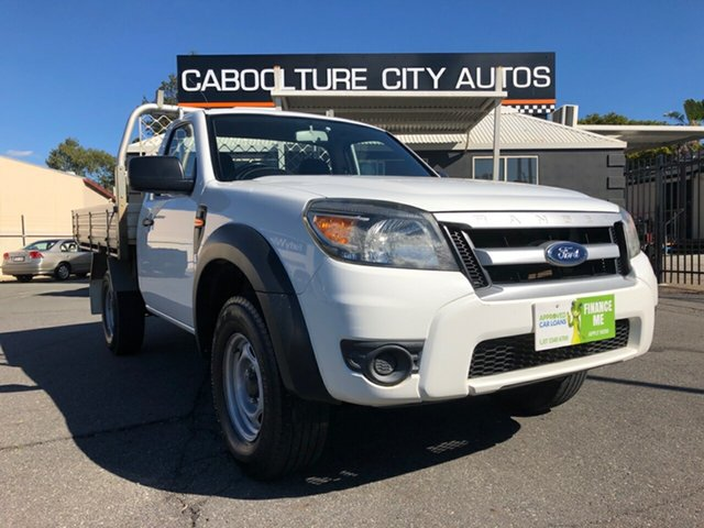 Used Ford Ranger PK XL, 2009 Ford Ranger PK XL White 5 Speed Manual Cab Chassis