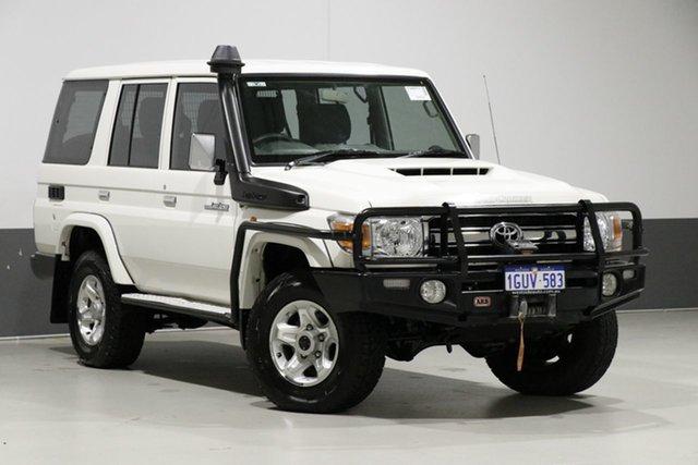Used Toyota Landcruiser LC70 VDJ76R MY17 GXL (4x4), 2017 Toyota Landcruiser LC70 VDJ76R MY17 GXL (4x4) White 5 Speed Manual Wagon