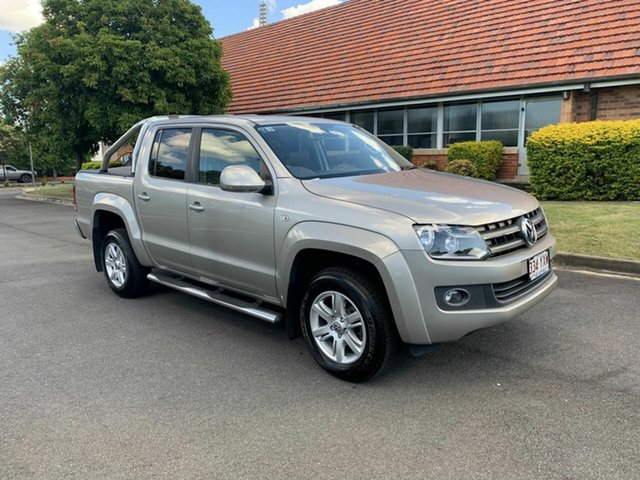 Used Volkswagen Amarok  Highline, 2013 Volkswagen Amarok TDI420 Highline Gold 8 Speed Automatic Dual Cab