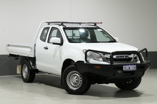 Used Isuzu D-MAX TF MY14 SX (4x4), 2014 Isuzu D-MAX TF MY14 SX (4x4) White 5 Speed Manual Space Cab Chassis