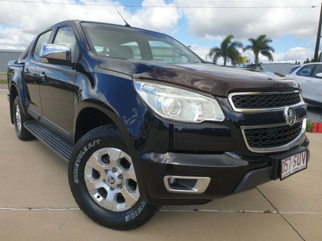 Used Holden Colorado RG MY13 LTZ Crew Cab 4x2, 2012 Holden Colorado RG MY13 LTZ Crew Cab 4x2 Black 6 Speed Sports Automatic Utility