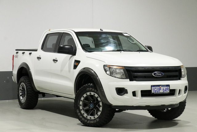 Used Ford Ranger PX XL 2.2 (4x4), 2012 Ford Ranger PX XL 2.2 (4x4) White 6 Speed Automatic Crew Cab Utility