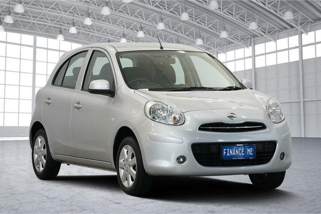 Used Nissan Micra K13 MY13 ST-L, 2014 Nissan Micra K13 MY13 ST-L Silver & Chrome 4 Speed Automatic Hatchback