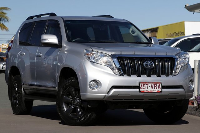 Used Toyota Landcruiser Prado KDJ150R MY14 Altitude, 2015 Toyota Landcruiser Prado KDJ150R MY14 Altitude Silver Pearl 5 Speed Sports Automatic Wagon