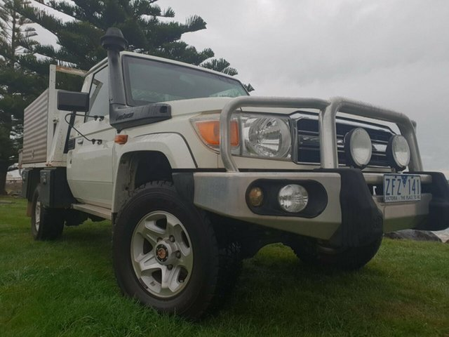 Used Toyota Landcruiser VDJ79R MY10 GXL, 2011 Toyota Landcruiser VDJ79R MY10 GXL French Vanilla 5 Speed Manual Cab Chassis