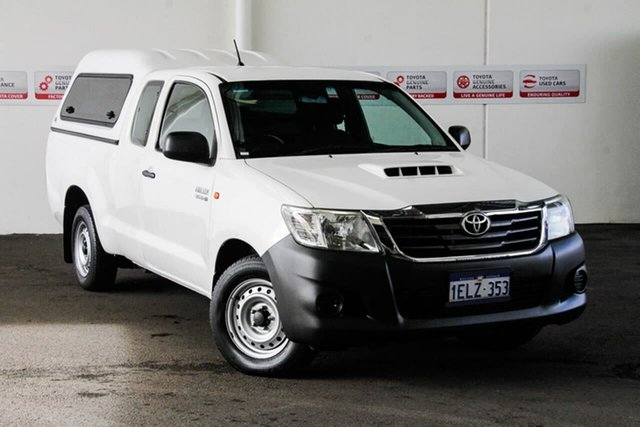 Used Toyota Hilux KUN16R MY14 SR, 2014 Toyota Hilux KUN16R MY14 SR Glacier White 5 Speed Manual X Cab Pickup