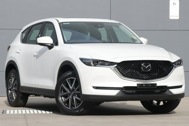 New Mazda CX-5 KF4W2A GT SKYACTIV-Drive i-ACTIV AWD, 2018 Mazda CX-5 KF4W2A GT SKYACTIV-Drive i-ACTIV AWD Snowflake White 6 Speed Sports Automatic Wagon