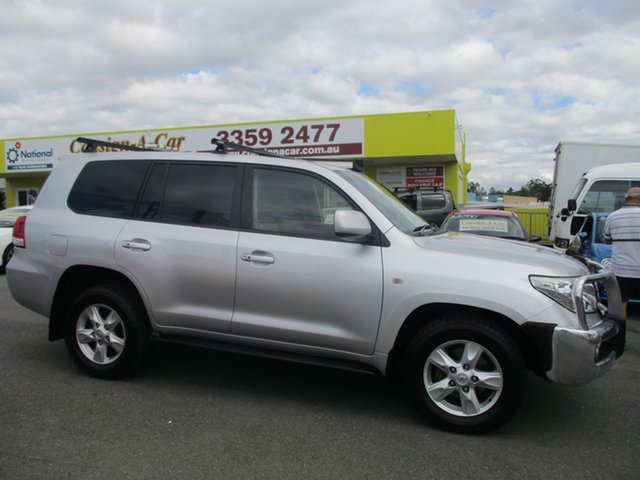 Used Toyota Landcruiser VDJ200R MY10 Sahara, 2009 Toyota Landcruiser VDJ200R MY10 Sahara Silver 6 Speed Sports Automatic Wagon