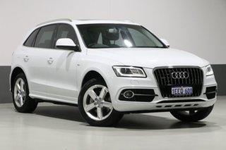 2013 Audi Q5 8R MY13 3.0 TDI Quattro White 7 Speed Auto Dual Clutch Wagon.