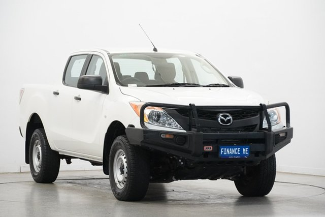 Used Mazda BT-50 UP0YF1 XT, 2015 Mazda BT-50 UP0YF1 XT White 6 Speed Manual Utility