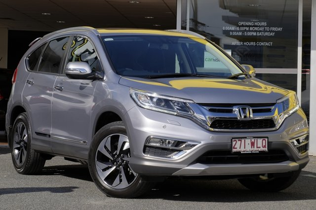 Used Honda CR-V RM Series II MY17 VTi-L 4WD, 2016 Honda CR-V RM Series II MY17 VTi-L 4WD Lunar Silver 5 Speed Sports Automatic Wagon