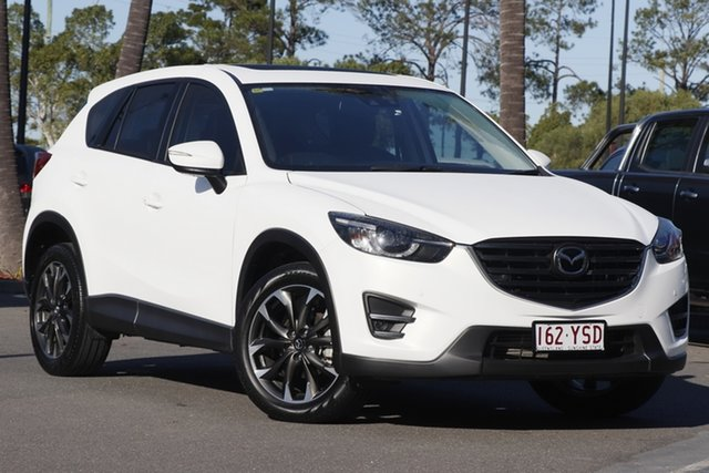 Used Mazda CX-5 KE1022 Akera SKYACTIV-Drive AWD, 2015 Mazda CX-5 KE1022 Akera SKYACTIV-Drive AWD White 6 Speed Sports Automatic Wagon