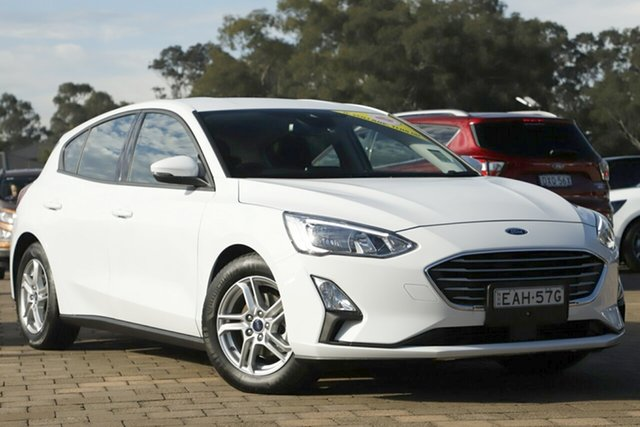 Used Ford Focus SA 2019MY Trend, 2018 Ford Focus SA 2019MY Trend Frozen White 8 Speed Automatic Hatchback