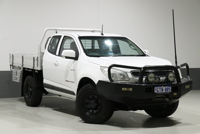 Used Holden Colorado RG LX (4x4), 2012 Holden Colorado RG LX (4x4) White 5 Speed Manual Space Cab Chassis
