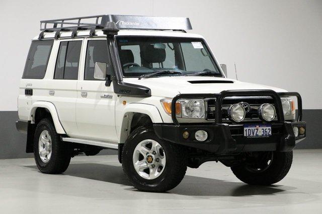 Used Toyota Landcruiser VDJ76R MY12 Update GXL (4x4), 2012 Toyota Landcruiser VDJ76R MY12 Update GXL (4x4) White 5 Speed Manual Wagon