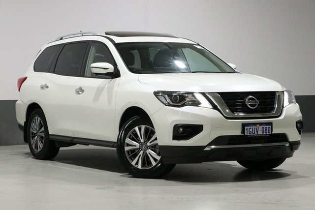 Used Nissan Pathfinder R52 MY17 Series 2 ST-L (4x4), 2018 Nissan Pathfinder R52 MY17 Series 2 ST-L (4x4) Ivory Pearl Continuous Variable Wagon