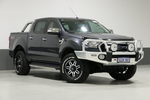 Used Ford Ranger PX MkII MY17 XLT 3.2 (4x4), 2016 Ford Ranger PX MkII MY17 XLT 3.2 (4x4) Grey 6 Speed Automatic Dual Cab Utility