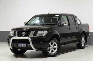 2013 Nissan Navara D40 MY12 ST-X (4x4) Black 7 Speed Automatic Dual Cab Pick-up.