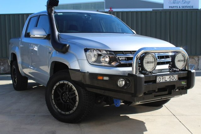 Used Volkswagen Amarok 2H MY17.5 TDI550 4MOTION Perm Sportline, 2017 Volkswagen Amarok 2H MY17.5 TDI550 4MOTION Perm Sportline Silver 8 Speed Automatic Utility