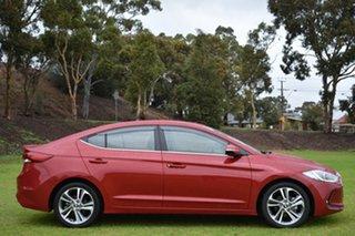 2015 Hyundai Elantra AD MY17 Elite Red 6 Speed Sports Automatic Sedan.