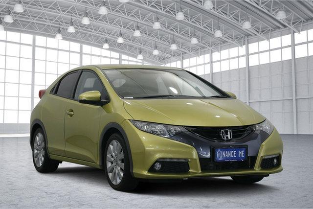 Used Honda Civic 9th Gen MY13 VTi-S, 2013 Honda Civic 9th Gen MY13 VTi-S Yellow 5 Speed Sports Automatic Hatchback