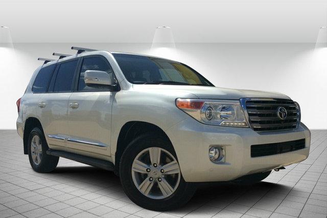 Used Toyota Landcruiser VDJ200R MY13 Sahara, 2014 Toyota Landcruiser VDJ200R MY13 Sahara White 6 Speed Sports Automatic Wagon