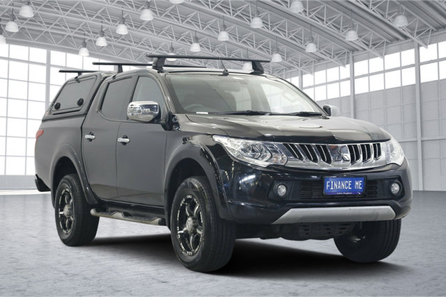 Used Mitsubishi Triton MQ MY16 Exceed Double Cab, 2015 Mitsubishi Triton MQ MY16 Exceed Double Cab Black 5 Speed Sports Automatic Utility