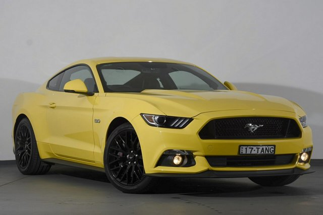 Used Ford Mustang FM 2017MY GT Fastback SelectShift, 2017 Ford Mustang FM 2017MY GT Fastback SelectShift Yellow 6 Speed Sports Automatic Fastback